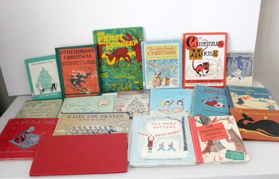 18 Vintage Christmas Books for Children, including The Christmas Whale, 1st Pressings, Kids Books