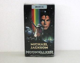 Michael Jackson Moonwalker VHS Tape in Shrink, Musical Video 1980s