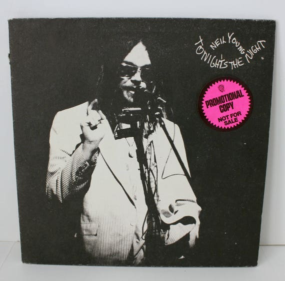 Vintage Neil Young Tonight's The Night Promo G/F LP w/Insert, Hello Goodbye Waterface