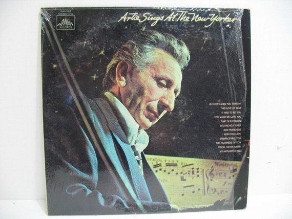 Artie Sings At The New Yorker Vintage Record LP Album, Jazz Lounge Art Mineo on Arwan in Shrink