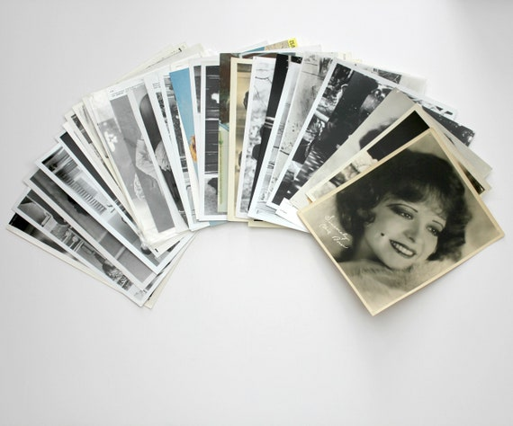 Vintage Lot 30 8 x 10 Movie Photo Stills, Most Black and White, 1930s - 1970s, Clara Bow, Jack Nicholson, Norma Talmadge, John Travolta, Oz
