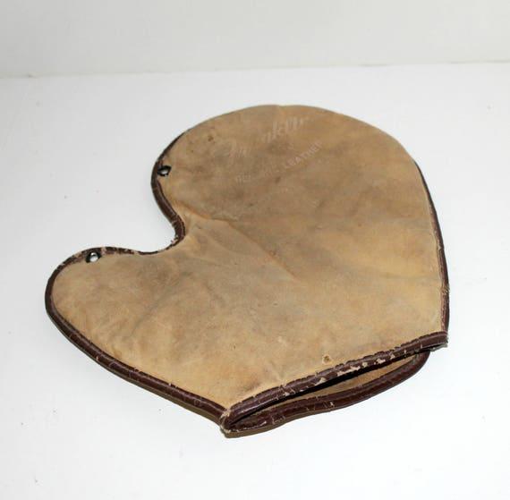 Vintage Franklin Baseball Mitt Glove, Genuine Leather Fingerless
