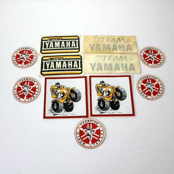 Vintage Yamaha Motorcycle ATV Tri Moto Stickers Lot of 11, Vintage 70s 80s Decals