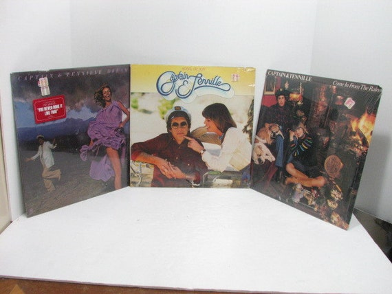 Three Captain & Tennille LP Vinyl Records, All Sealed NOS Albums, Pop Rock
