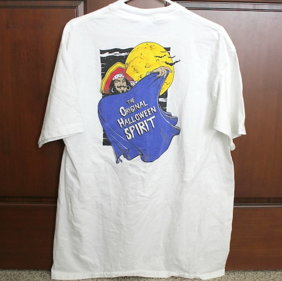 Vintage Captain Morgan Halloween Spirit T Shirt, Rum m Advertising, Size XL