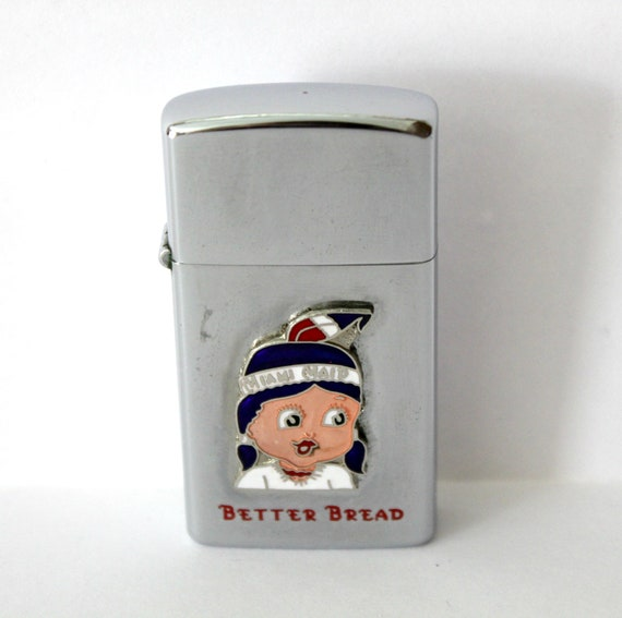 Vintage Miami Maid Better Bread Idealine Lighter Embossed Enamel 1950s