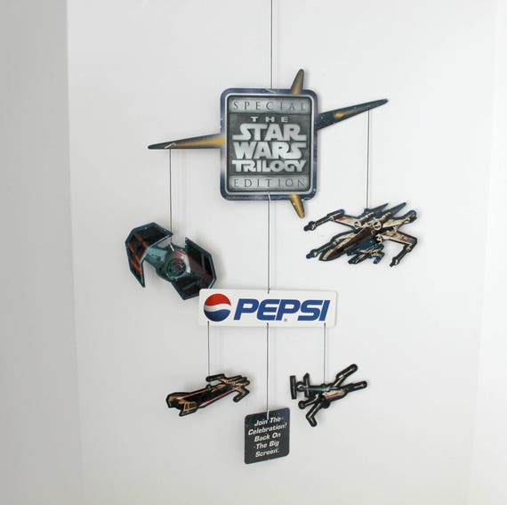Vintage Star Wars Trilogy Pepsi Display Hanging Mobile, 1996 Advertising