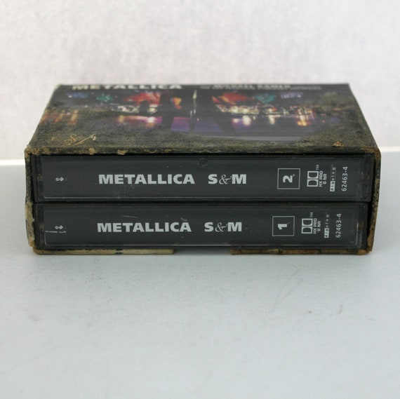 1999 Metallica S & M w/ Michael Kamen San Francisco Symphony Orchestra 2 Cassette Tape Box Set