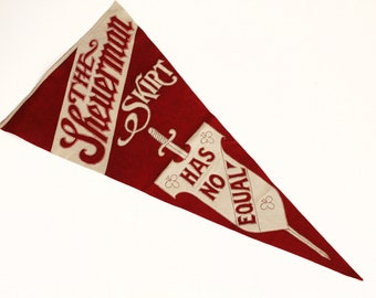 The Sheuerman Skirt Has No Equal Advertising Pennant Banner, Clothing