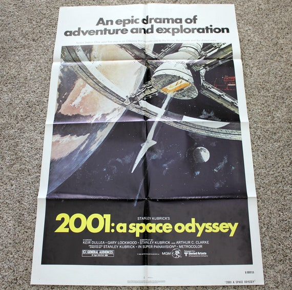 "1980 2001: A Space Odyssey Movie Poster, Re-Release One Sheet, 27"" x 41"""