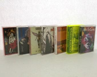 Lot 7 Cassette Tapes, Grunge Alt Rock, Alice In Chains | Pearl Jam | Nirvana | Jane's Addiction