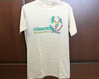 Vintage O'Brien Waterskiers T Shirt, Sport Waterskiing Turn Tricks