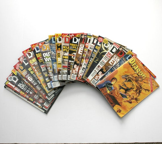 Lot 20 + 2 Dragon Magazines, RPG Gaming 1991, 2001 - 2003 Issues