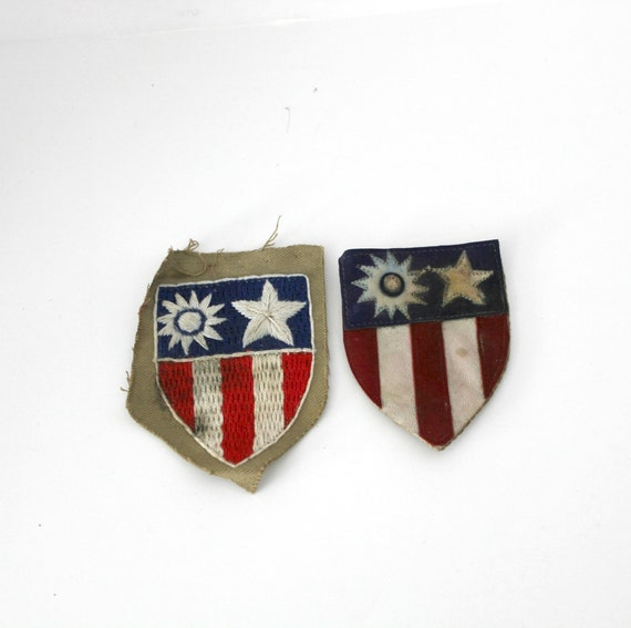 Vintage WWII Military Patches Insignia CBI China Burma India Theater