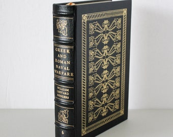 Greek and Roman Naval Warfare Book, Leather Cover, Collector's Edition, Easton Press 1991, Ledyard Rodgers, 22K Gold Embossing