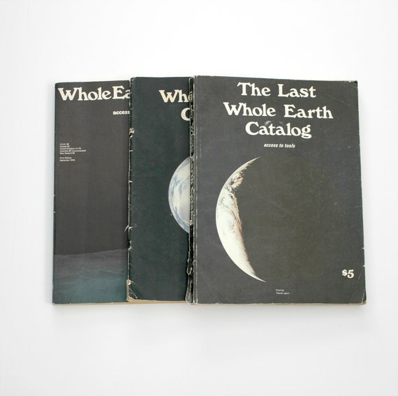 Vintage Lot 3 Whole Earth Catalog Last, Epilog, 1970s Magazine, Access To Tools