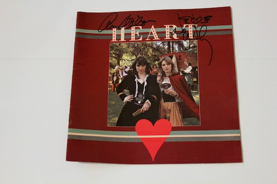 Signed Heart Tour Program, 1977 Little Queen, Rare Ltd Ed. 87/100, Autographed by Ann Nancy Wilson