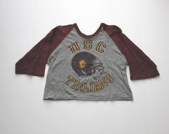 1970s USC Trojans 1/2 Shirt, Vintage College Football, University Southern California