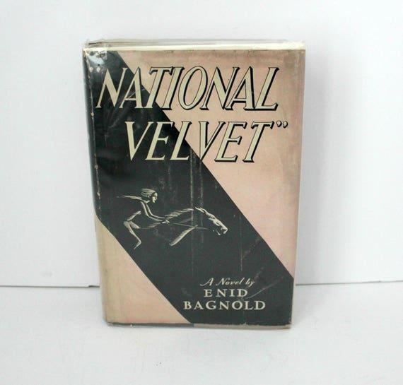 National Velvet 1935 1st Edition 1935 Book w/ DJ by Enid Bagnold
