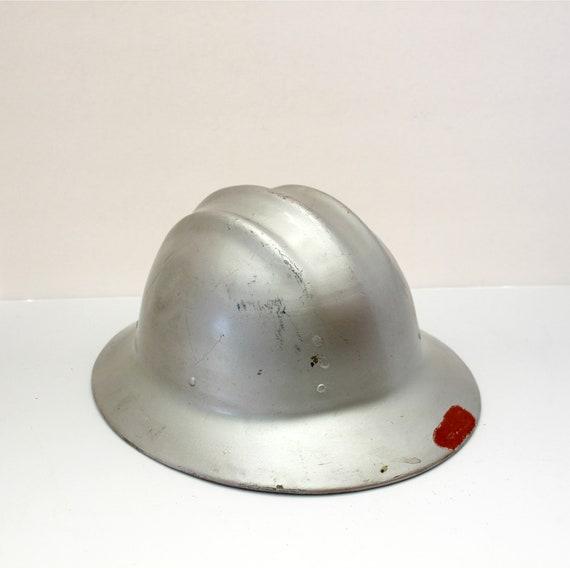 Vintage Hard Boiled Hard Hat | Aluminum 1950s E.D. Bullard Safety Hat