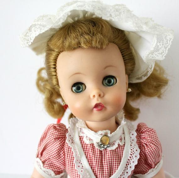 "Vintage Madame Alexander Marybell Doll, 15"" 1950s 60s Kelly Face, MMe, Soft Vinyl Head, Sleep Eyes"