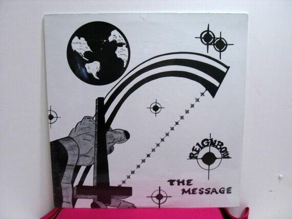 Reignbow The Message Vinyl LP Record Still Sealed, Vintage Album, Rainbow Xian Folk Femme Christian Private Label