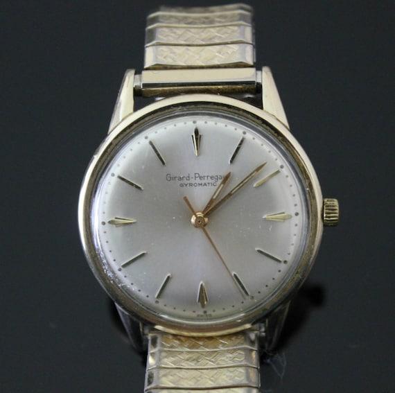 Vintage Girard Perreguax Gyromatic Mens Wristwatch Watch 10K G/F