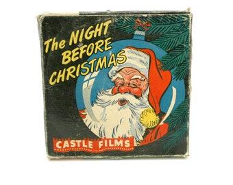 The Night Before Christmas 16mm Film Movie Reel, Vintage Castle Films 1960s