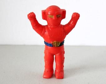 Super Robot Red Baron Action Figure, Vintage Soft Vinyl Mascot, NTV Japanese