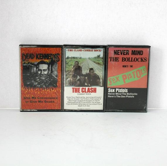 Lot 3 Vintage Punk Rock Cassette Tapes | Dead Kennedys | The Clash | Sex Pistols