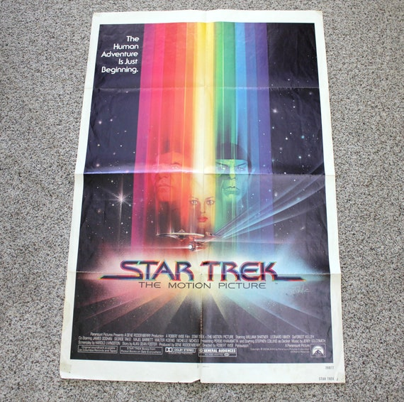 "Vintage Star Trek Movie Poster, 1979 Original One Sheet, 27"" x 41"" Size, Sci Fi Space"
