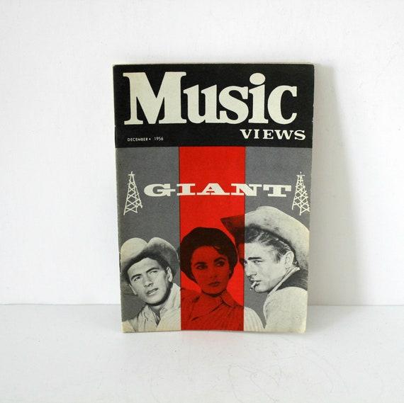 Music Views Magazine December 1956 Giant James Dean