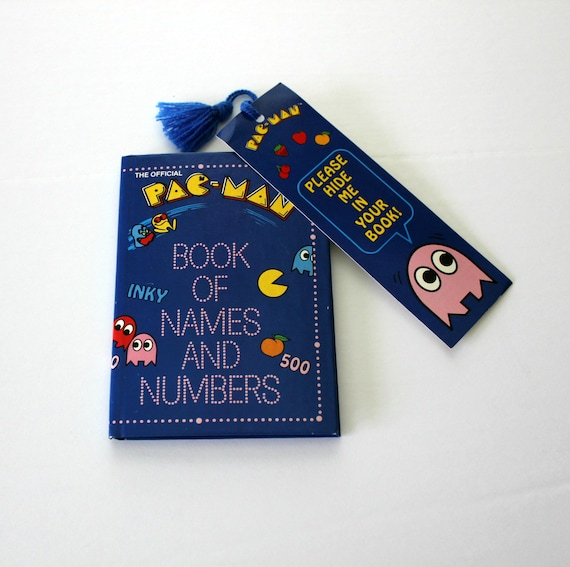 Vintage 1980 Pac-Man Book of Names and Numbers | PacMan Bookmark | Address Phone