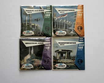 Vintage View Master Reels Lot 4 New York World's Fair, 3 Sealed, 1960s Stereo Pictures