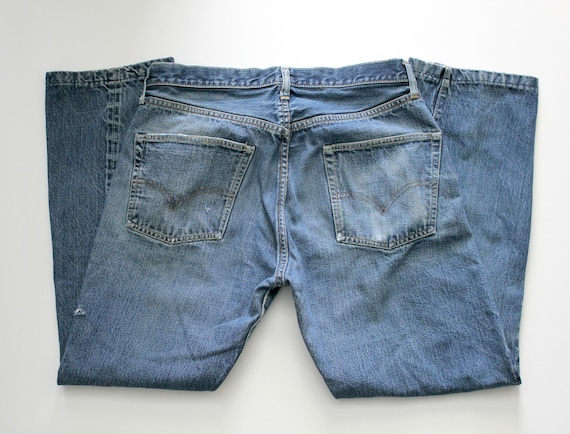 Vintage 1966 - 1968 Levi 501 Button Fly Jeans, Denim with Selvedge