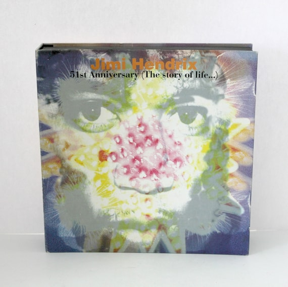 Vintage Jimi Hendrix 51st Anniversary Story of Life Box Set 1993 Includes 4 CDs VHS and Booklet | Vintage Rare Photos Video Stockholm Concert 1969
