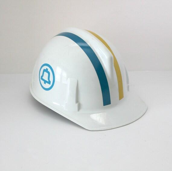 Vintage Bell Telephone Hard Hat, Topgard Mine Lineman Protective Safety Hat Cap Helmet