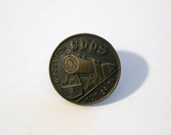 Boost for Coos Pin Rare 1916 Southern Pacific Coos Bay Oregon Railroad Jubilee Train