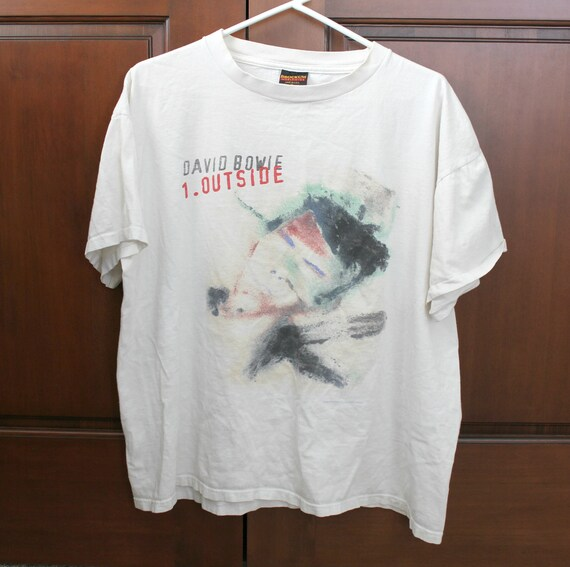1995 David Bowie Outside Tour Shirt Vintage XL White