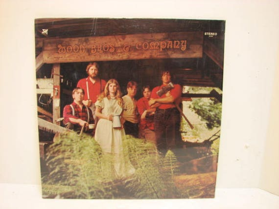 Wood Bros. & Company Vintage Vinyl LP on Joy, Private Christian Folk Psych Record in Shrink, 1970s Northwest Seattle Wood Brothers
