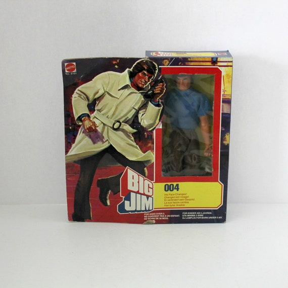 Vintage 1981 Big Jim 004 Action Figure Doll in Rare Sealed Box Mattel, Spy Series, Face Changes