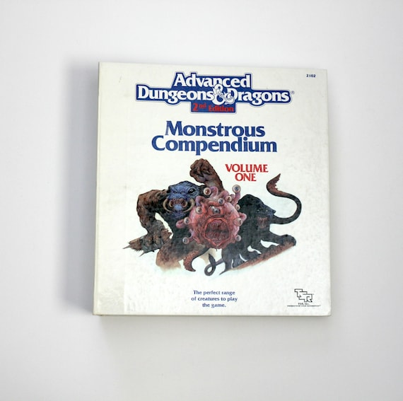 Vintage AD&D Dungeons and Dragons Monstrous Compendium 2102 Vol One and Two 3 Ring Binder RPG