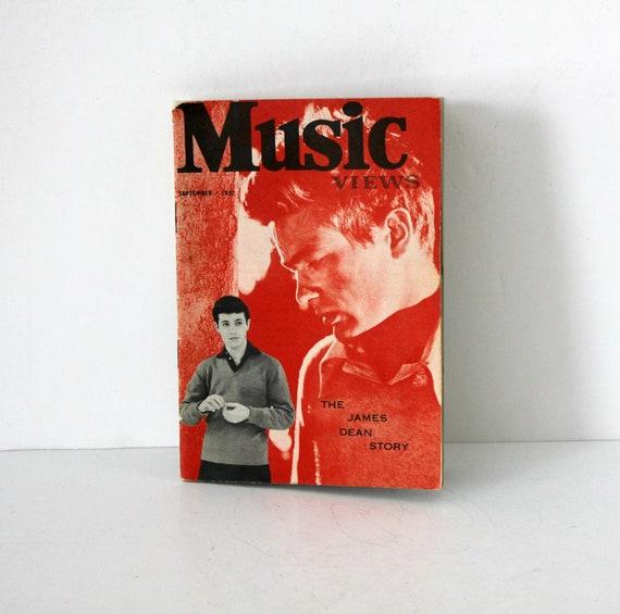 Music Views Magazine September 1957 James Dean Story