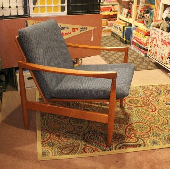 Vintage Skive Teak Easy Chair Mobelfabrik Denmark Danish Mid Century Modern 1960s Furniture