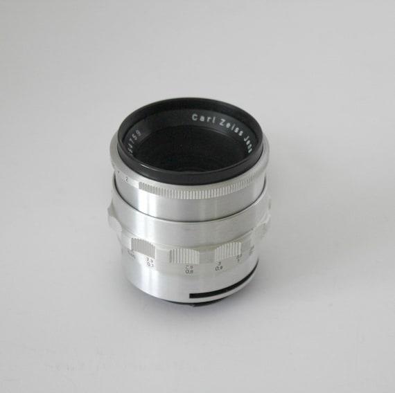 Vintage Carl Zeiss Jena Lens Biotar 2/58, Photography Silver Camera Lens,
