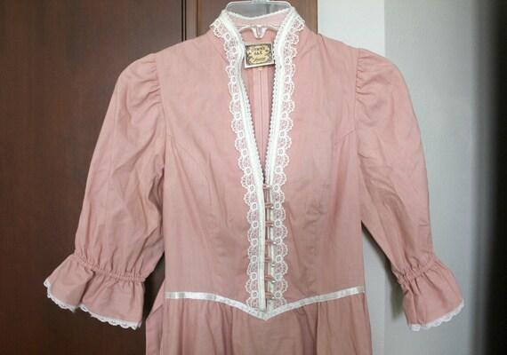 Gunne Sax By Jessica Vintage Dress, Victorian, Lac