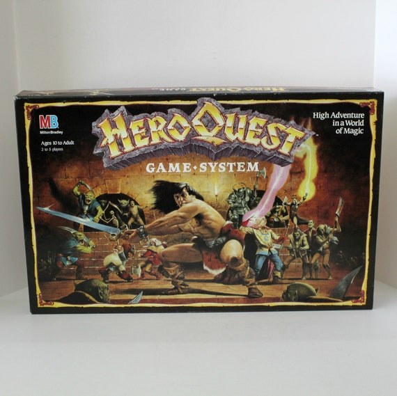 Hero Quest Game System, 1989 1990 MB Milton Bradley 100% Complete in Box Excellent