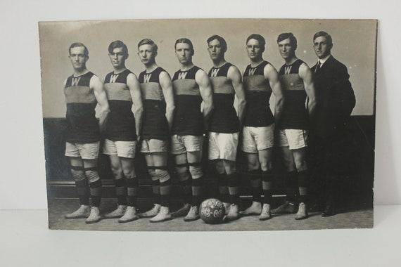 Antique WSC Basketball Team RPPC 1908 1909 Postcard, Real Photo, College Sports WSU Washington State University