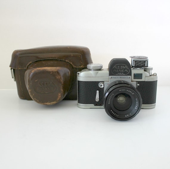 Alpha Alnea Mod 7 SLR 35mm Swiss Camera Switzerland w/ Case Vivitar Lens As Is