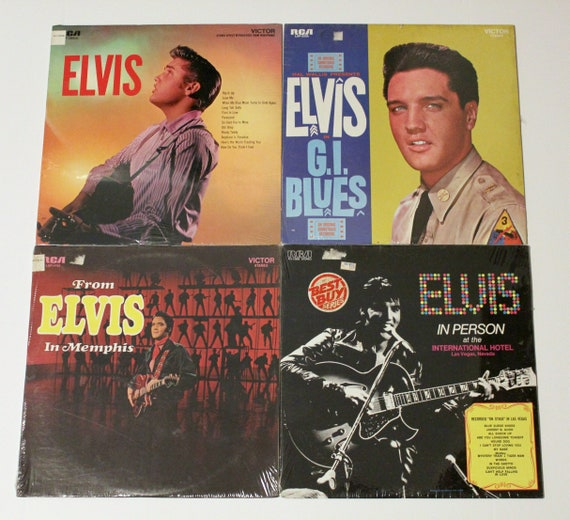 Elvis Presley Sealed LP Record Album Vintage Lot of 4 | Elvis | GI Blues | Memphis | In Person |